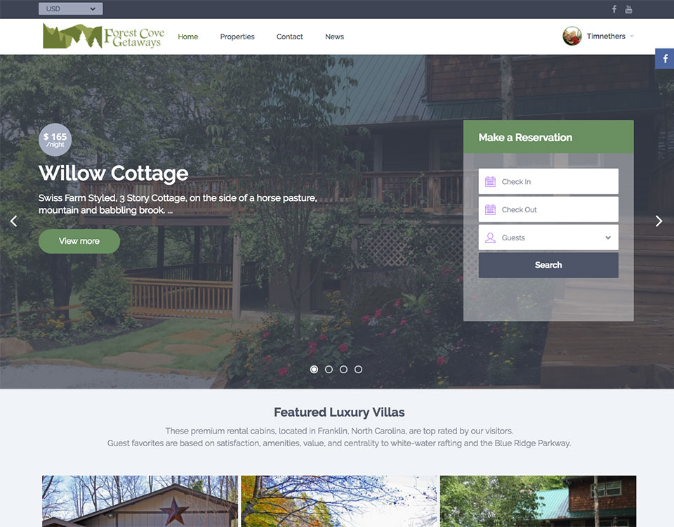 Rental Property Website Design
