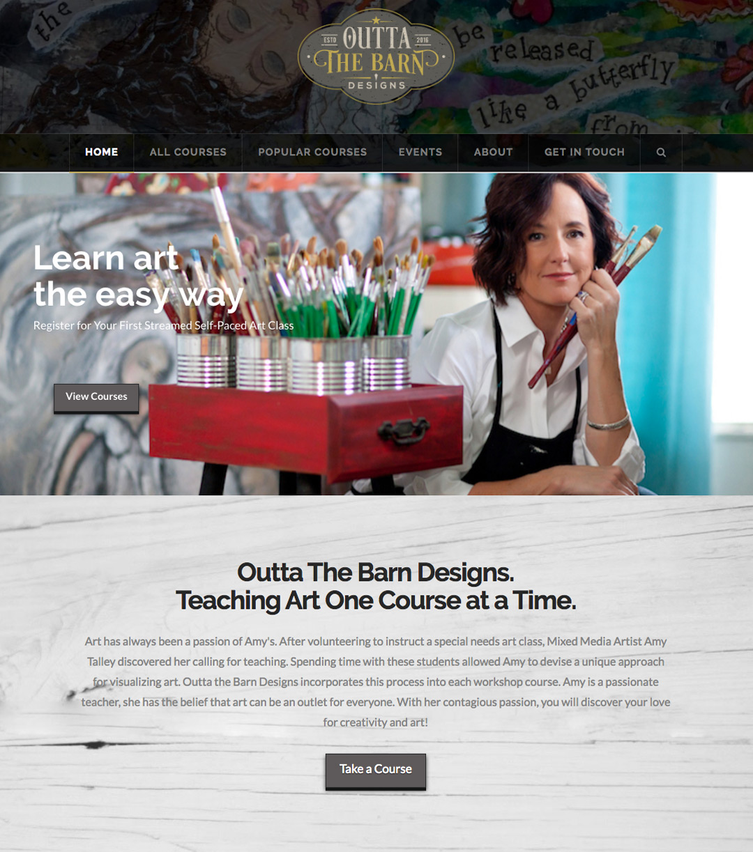 Website Design for Selling Art Classes Online