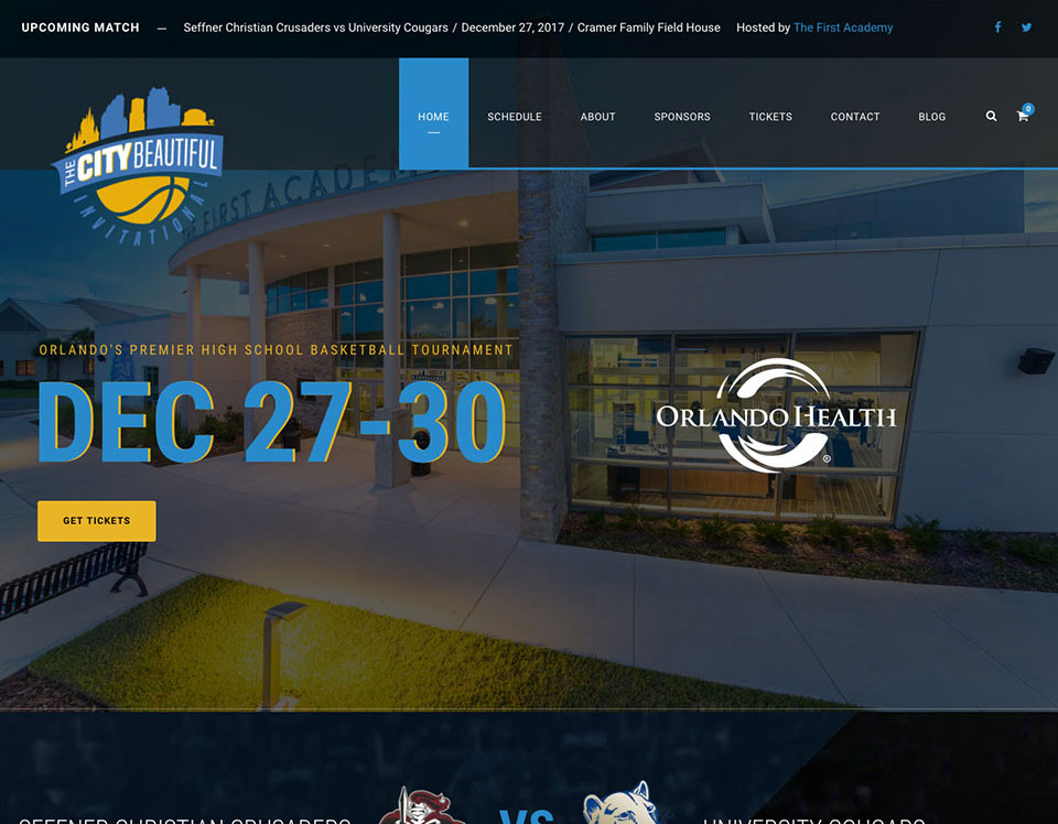 High School Basketball Website Design