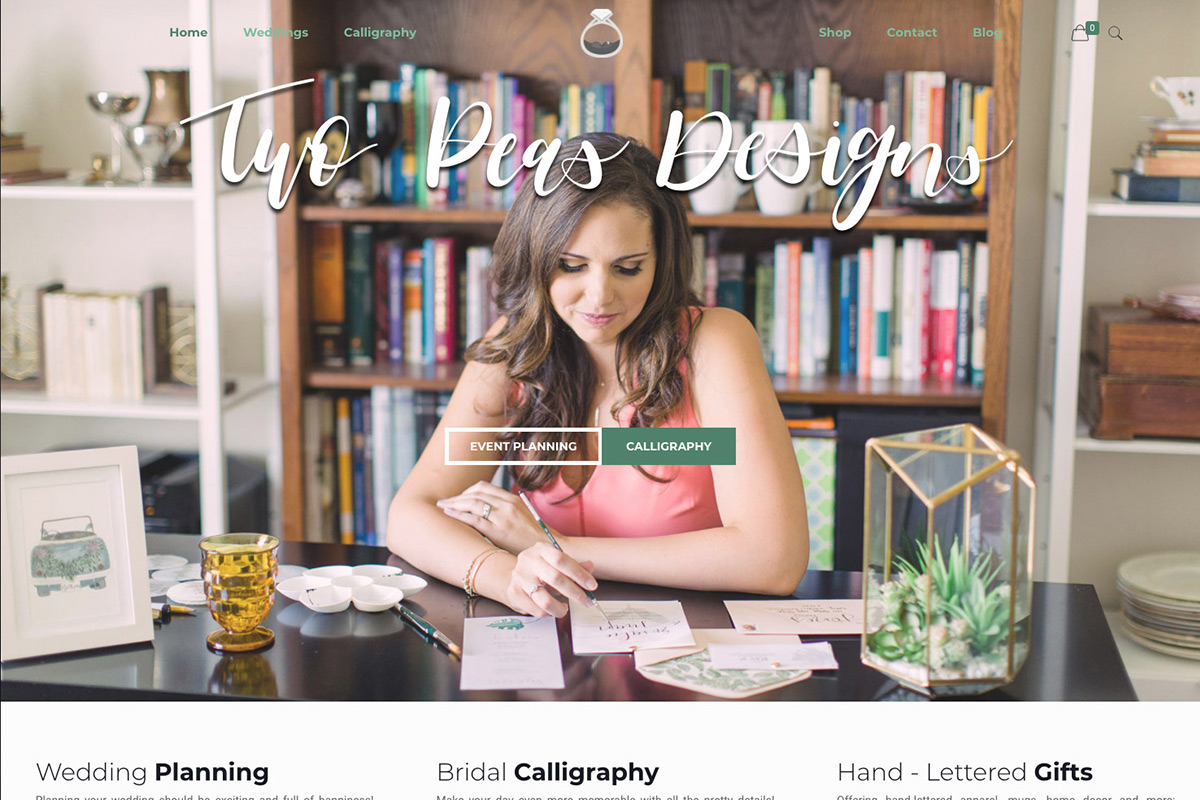Web Design for Calligraphy and Wedding Planning Website Design Services