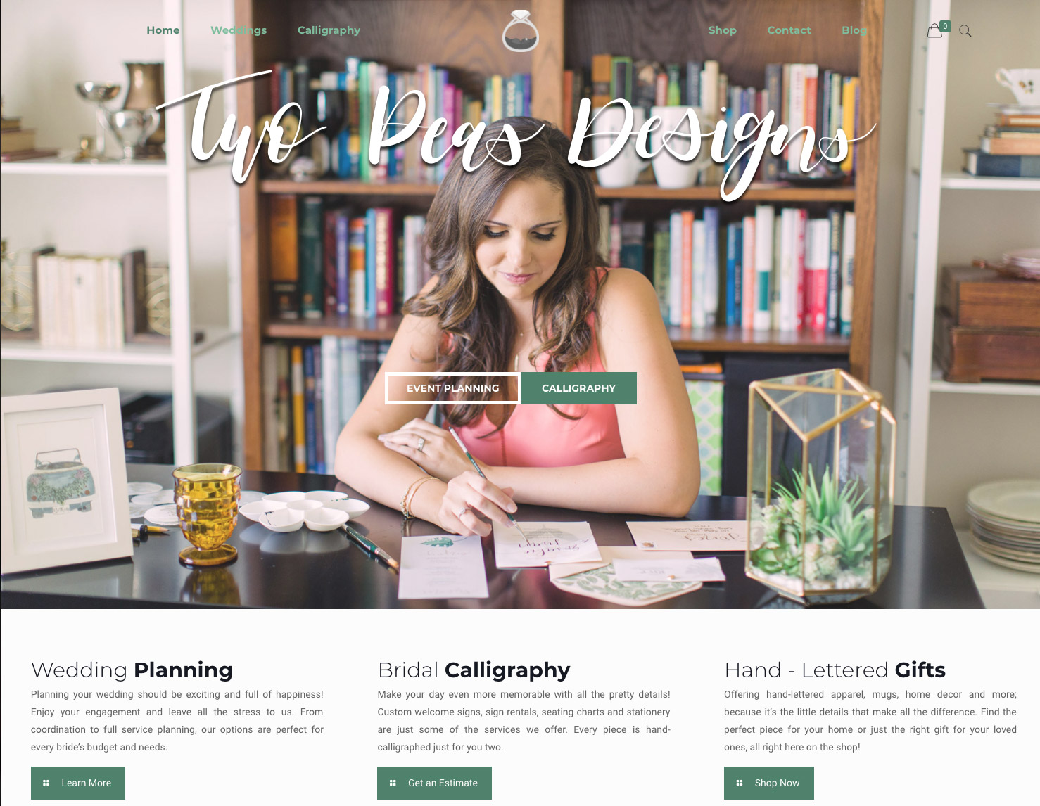 Wedding Planner Website Design | Calligrapher Website Design