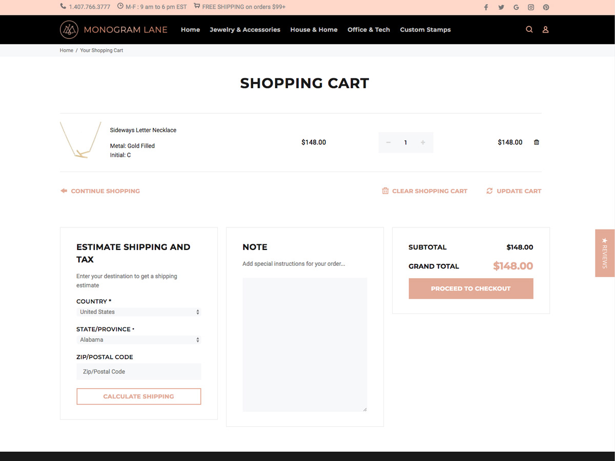 eCommerce Shopping Cart Design