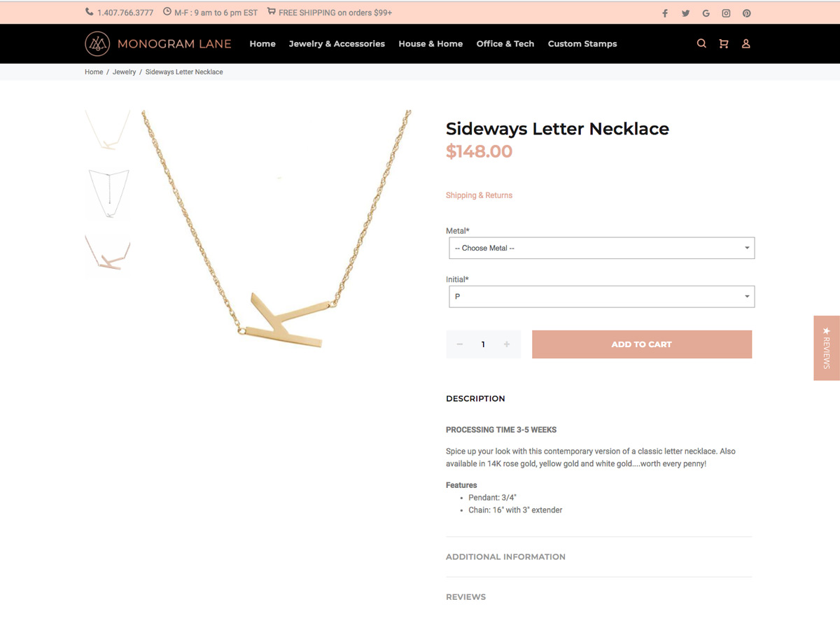 eCommerce Product View Design