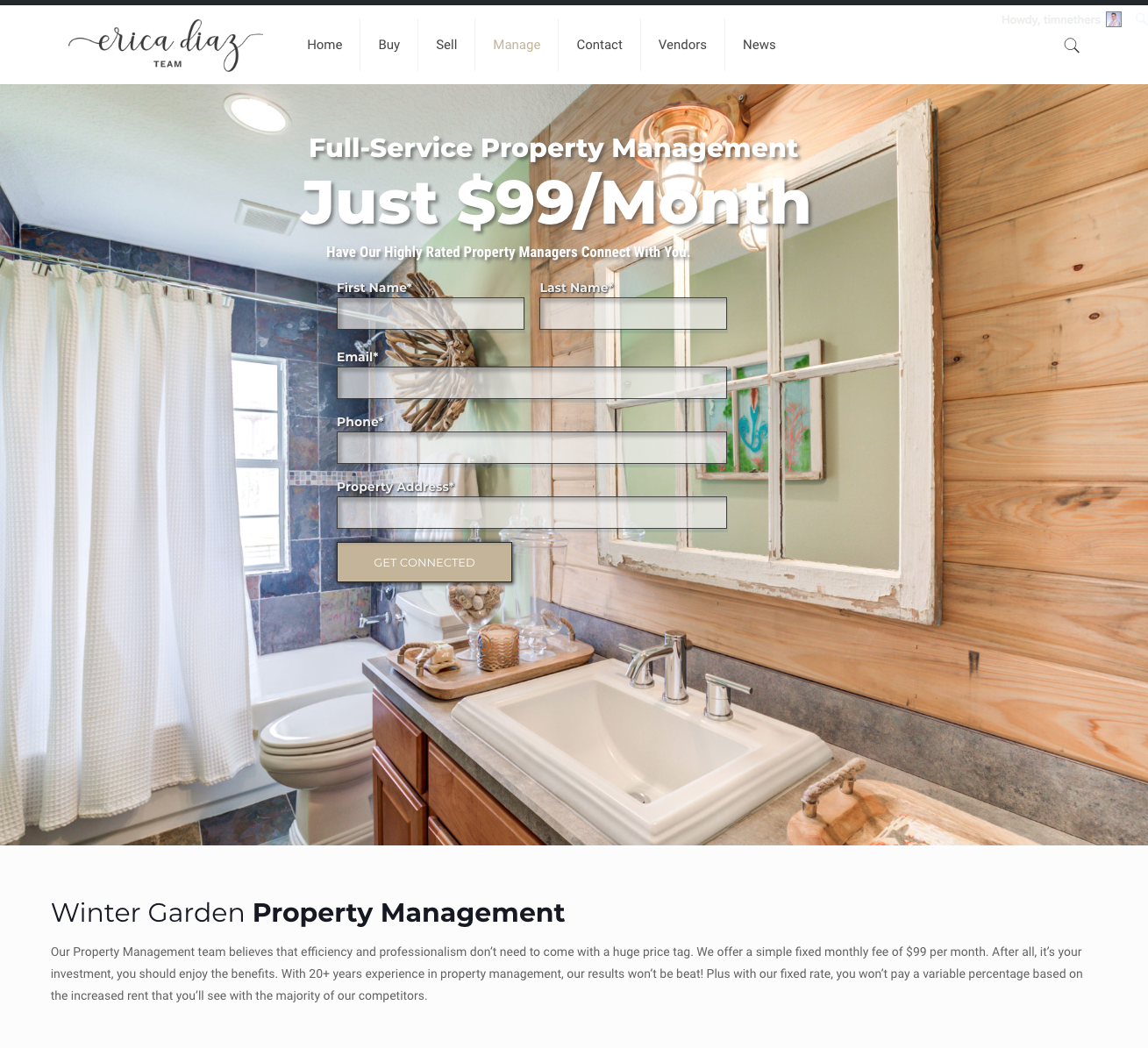 Website Form Design for Property Management