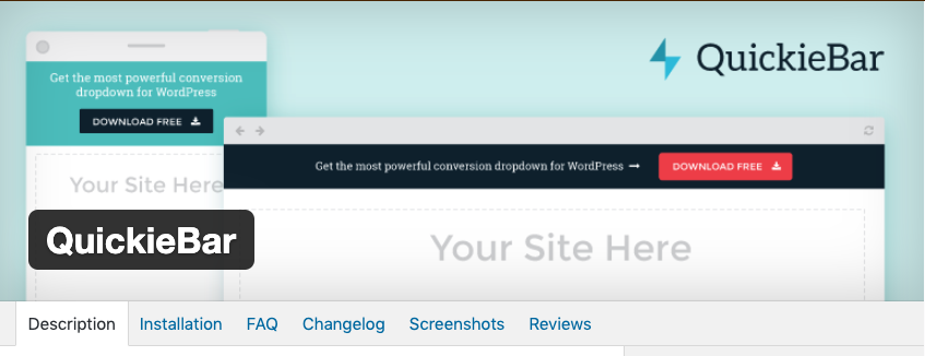 Add a Top Bar to Your Site