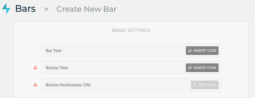 Create New Bar
