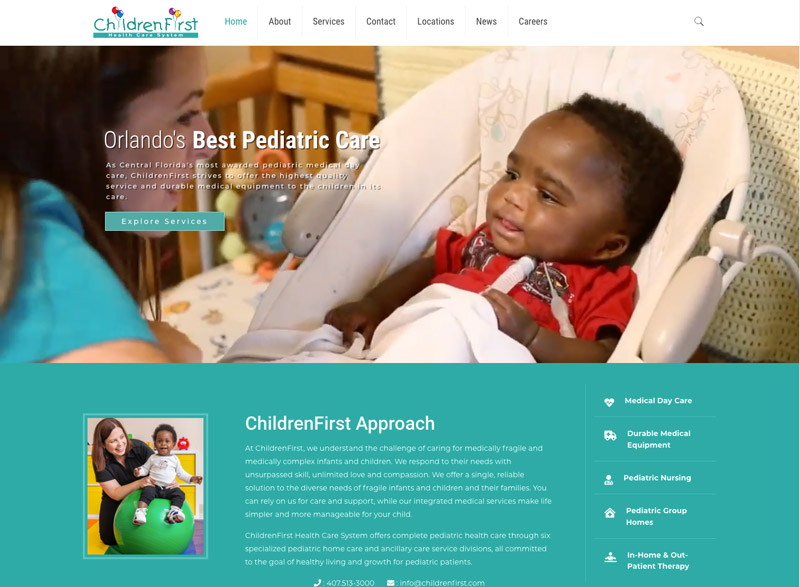 ChildrenFirst Healthcare Website Design