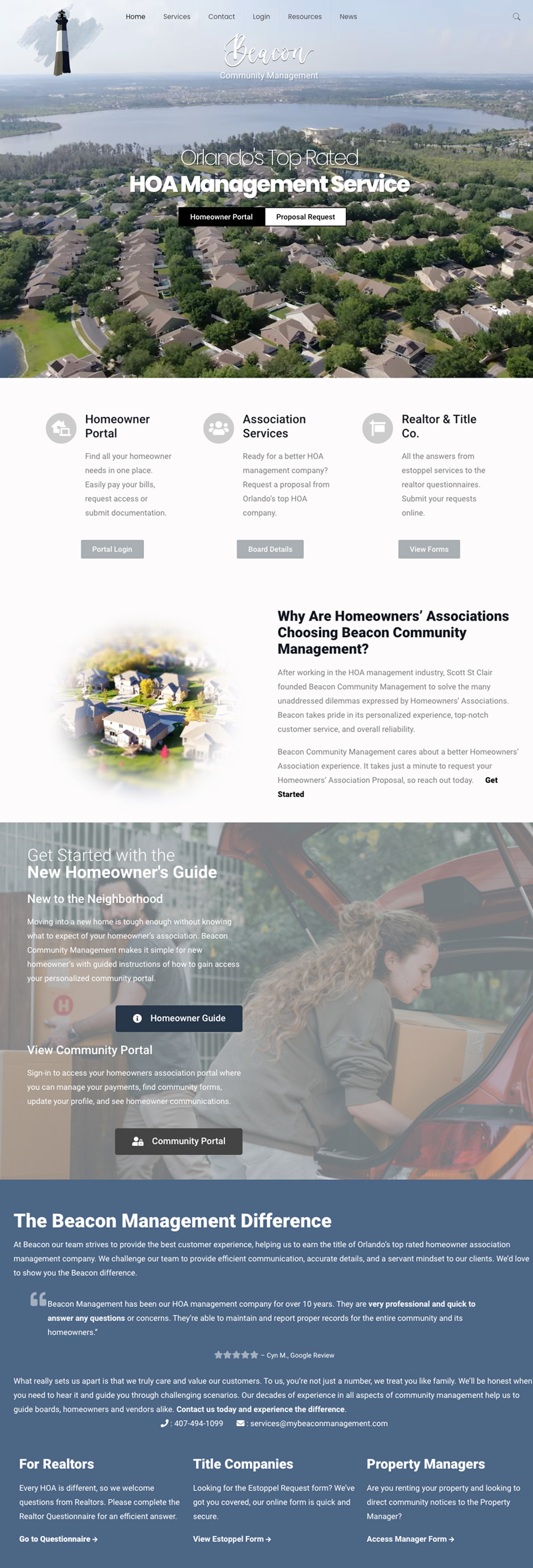Website Design for HOA Management and Property Management Website Design